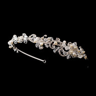Delightful Pearl and Crystal Side Accent Wedding Headband