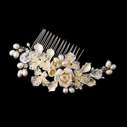 Silver Plated Comb