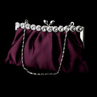 Chic Purple Evening Bag Clutch Purse with Crystal Trim