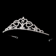 Rhinestone and Crystal Flower Girl Tiara