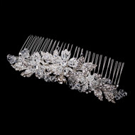 Rhinestone and Crystal Wedding Tiara Comb