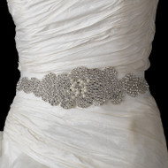 Rhinestone and Pearl Glitz Wedding Dress Belt Sash - sale!