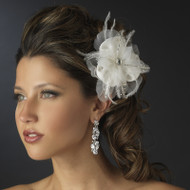 Glistening Beaded Bridal Hair Flower