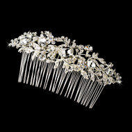 Large Rhinestone Floral Bridal Hair Comb