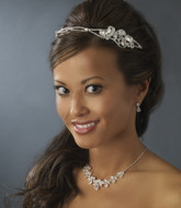 Rhinestone Side Accent Bridal Headband and Jewelry Set - Sale!