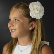 flower Girl Rose Hair Flower Accessory Clip
