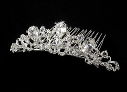 Romantic Silver Plated Bridal Tiara Comb