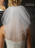 JL Johnson Bridal Short 5 Layer Veil with Crystals - Many Colors