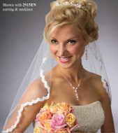JL Johnson Bridal Custom Made Wedding Veil with Lace Edge V5021