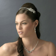 Side Accent Bridal Headband and Wedding Jewelry Set
