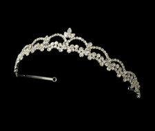 Simply Elegant Rhinestone Wedding and Quinceanera Tiara - sale!