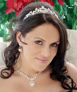 Classic Elegance Wedding Tiara with Bridal Jewelry Set - sale!