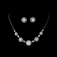 Silver Plated Cubic Zirconia Wedding Jewelry