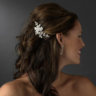 Silver Plated Floral Bridal Comb