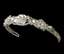 Silver Rhinestone Couture Sensation Bridal Headband