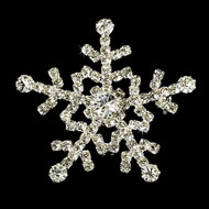Snowflake Rhinestone Winter Wedding Brooch