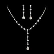 Sophisticated Rhinestone Drop Bridal and Prom Jewelry
