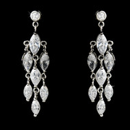 Sparkling Cubic Zirconia Bridal and Prom Earrings