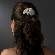 Sparkling Rose Wedding and Prom Barrette