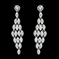 Stunning Cubic Zirconia Bridal and Prom Earrings
