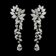 Glamorous Cubic Zirconia Wedding Earrings - Clip On or Pierced