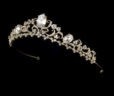 Enchanting Gold Plated Bridal Tiara