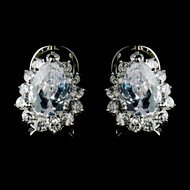 Stunning Clear Rhinestone Stud Bridal Earrings