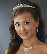 Ice Crystal Wedding Tiara and Matching Jewelry Set