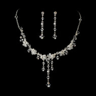 Swarovski Crystal Drop Bridal Jewelry Set