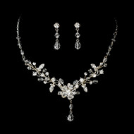 Swarovski Crystal Floral Bridal Jewelry Set