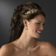 Crystal Gold or Silver Plated Bridal Headband