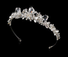 Silver or Gold Plated Ice Crystal Bridal Tiara