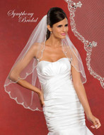 Symphony Bridal 5902VL Beaded Embroidery Wedding Veil