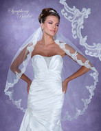 Symphony Bridal 6119VL Lace Edge Fingertip Wedding Veil