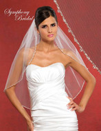 Symphony Bridal Beaded Edge Wedding Veil 5905VL
