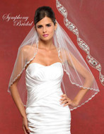 Symphony Bridal Beaded Wedding Veil 5906VL