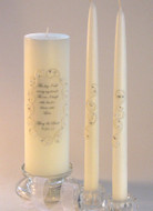 This Day Lace and Crystal Unity Candle Set