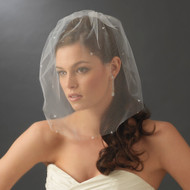 Tulle Birdcage Bridal Veil with Scattered Rhinestones