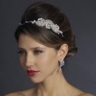 Unique Pearl and Rhinestone Side Accent Bridal Headband