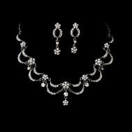 Victorian Antique Silver Wedding Jewelry Set - sale!