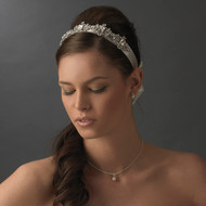 Vintage Crystal Satin Bridal Ribbon Headband
