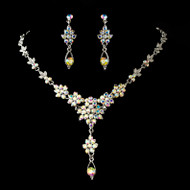 Modern Vintage AB Crystal Wedding or Prom Jewelry Set