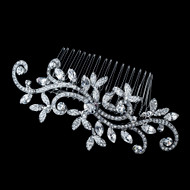 Vintage Inspired Antique Silver Swirl Bridal Comb