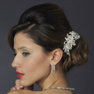 Vintage Inspired Crystal Wedding Hair Comb - sale!