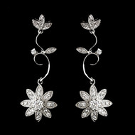 Vintage Inspired Cubic Zirconia Bridal Earrings