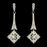 Vintage Look CZ Chandelier Bridal Earrings