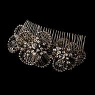 Vintage Look Rhinestone Diamante Wedding Hair Comb