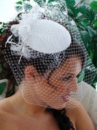 Vintage Inspired Bridal Hat with Birdcage Veil - on sale!