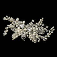 Vintage Look Freshwater Pearl and Crystal Wedding Hair Clip