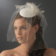 Vintage Style Bridal Hat with Birdcage Veil